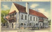 pst001516 - United States Post Office St Augustine Florida USA Postoffice Old Vintage Post Card Postcards