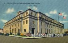 pst001518 - US Post Office and Federal buidling Miami Florida USA Postoffice Old Vintage Post Card Postcards
