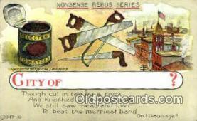 puz001013 - Artist Fred Lounsbury, Puzzle Postcard Postcards