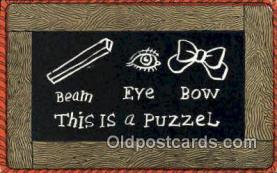 puz001031 - Puzzle Postcard Postcards