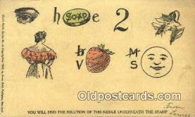 puz001036 - Huld's Riddle Series No 14 Puzzle Postcard Postcards
