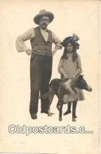 pwd001008 - People With Dog Dogs, Postcard Postcards