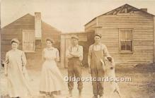 pwd002002 - People With Dogs Real Photo Postcard