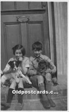 pwd002009 - People With Dogs Real Photo Postcard