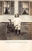 pwd002014 - People With Dogs Real Photo Postcard