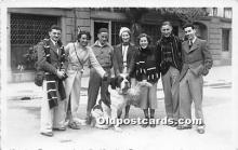 pwd002022 - People With Dogs Real Photo Postcard