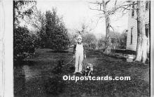 pwd002023 - People With Dogs Real Photo Postcard