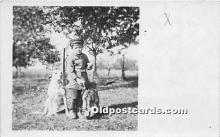 pwd002024 - People With Dogs Real Photo Postcard