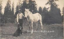 pwd002026 - People With Dogs Real Photo Postcard