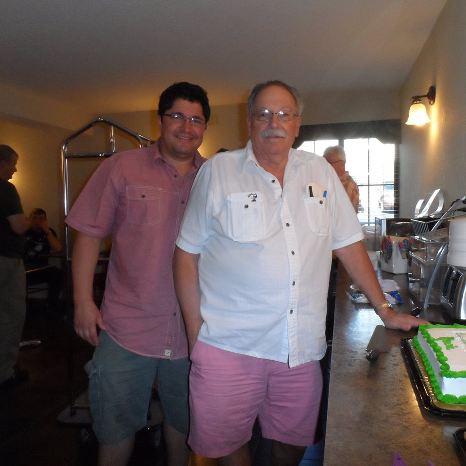 Me (left) and my father, Howard Gottlieb (right)