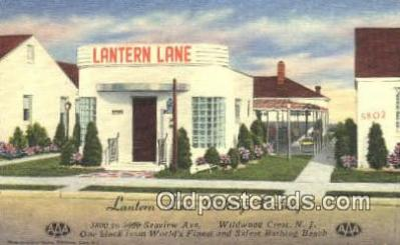 rds001028 - Wildwood Crest, NJ USA Lantern Lane Cottage Colony Road Side Postcard Post Cards