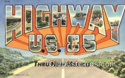 Highway U.S. 85 USA