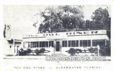 rds001063 - Clearwater, Florida  USA The Owl Diner Road Side Postcard Post Cards