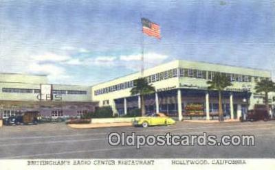 rds001073 - Hollywood, California USA Brittingham's Radio Center Restaurant Road Side Postcard Post Cards