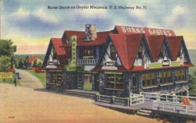 res001181 - Burns Gable, Gaylo Mountain, US Highway No 71, USA Restaurant & Diner Postcard Postcards