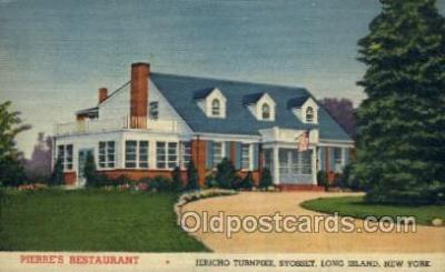 res001351 - Pierres, Long Island, NY USA Restaurant Old Vintage Antique Postcard Post Cards