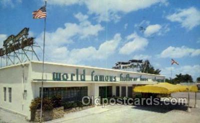 res001446 - Hallandale Florida USA World Famous Hofbrau Haus Old Vintage Antique Postcard Post Cards