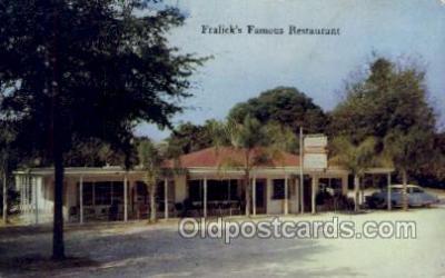 res001455 - Mount Dora Florida USA Fralicks Famous Restaurant Old Vintage Antique Postcard Post Cards