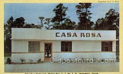 res001498 - Jacksonville, FL USA Casa Rosa Old Vintage Antique Postcard Post Cards
