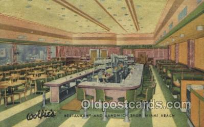 res001514 - Miami Beach, FL USA Wolfies Restaurant Old Vintage Antique Postcard Post Cards