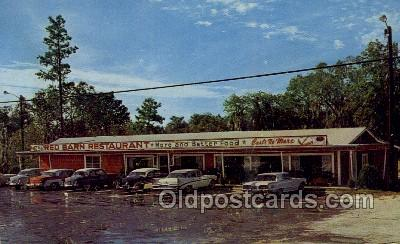 res001607 - Lake City Florida USA Red Barn Restaurant Old Vintage Antique Postcard Post Cards