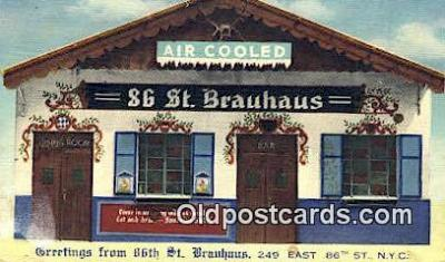 res050342 - Linen, 86th St. Brauhaus Restaurant, New York City, NYC Postcard Post Card USA Old Vintage Antique