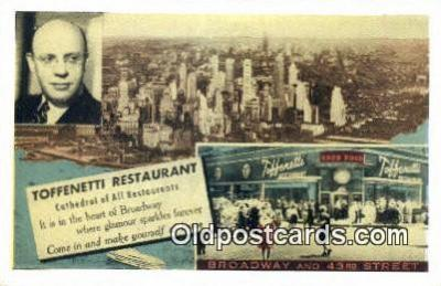 res050363 - Time Square, Toffenetti Restaurant, New York City, NYC Postcard Post Card USA Old Vintage Antique