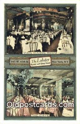 res050394 - The Lobster Oyster & Chop House Restaurant, New York City, NYC Postcard Post Card USA Old Vintage Antique