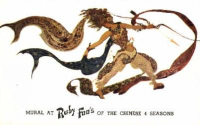 res100013 - Ruby Foo's, New York City, New York, NY, USA, Chinese Restaurant Postcard Postcards