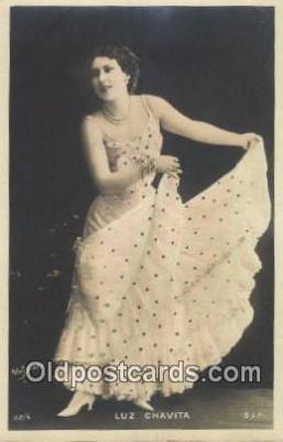 reu001108 - Reutlinger, Paris, Luz Chavita Reutlinger Postcard Postcards