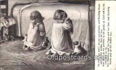 rgn001350 - Little Tot's Prayer Religion, Religious, Postcard Postcards