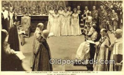 roy001070 - Coronation of Queen Elizabeth II British Royalty Postcard Postcards