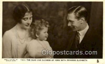 roy001074 - Duke and Duchess of York, Princess Elizabeth British Royalty Postcard Postcards