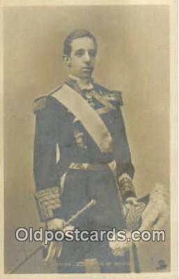 roy001101 - Alfonzo XIII, King of Spain Royalty Postcard Postcards