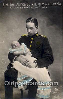 roy001110 - Alfonzo XIII, King of Spain Royalty Postcard Postcards