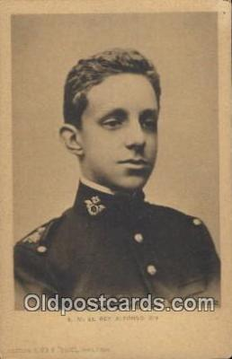 roy050047 - S.M. el Rey Don Alfonso XIII Misc. Royalty & Leaders Postcard Postcards
