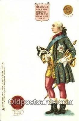 roy100001 - George III Kings & Queens of England,  Raphael Tuck & Sons Series 616, Postcard Postcards