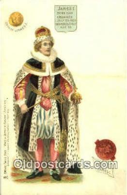 roy100006 - James I Kings & Queens of England,  Raphael Tuck & Sons Series 616, Postcard Postcards