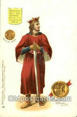 roy100009 - Stephen Kings & Queens of England,  Raphael Tuck & Sons Series 616, Postcard Postcards