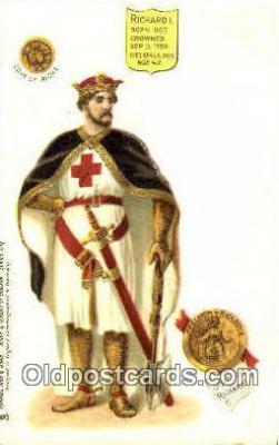 roy100010 - Richard II Kings & Queens of England,  Raphael Tuck & Sons Series 616, Postcard Postcards