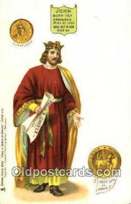roy100012 - John Kings & Queens of England,  Raphael Tuck & Sons Series 616, Postcard Postcards