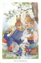 rbt013 - Rabbit Postcard Postcards