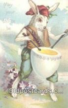 rbt015 - Easter Dressed Rabbit Postcard Postcards