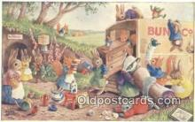 rbt024 - PK 296 Artist Racey Helps, The Medici Society, PK 296 Rabbit Postcard Postcards
