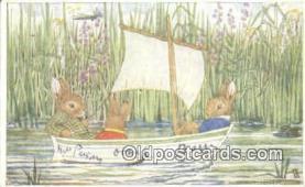 rbt027 - Artist Margaret Tempest, Rabbit Postcard Postcards