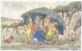 rbt041 - Artist Margaret Tempest, Rabbit Postcard Postcards