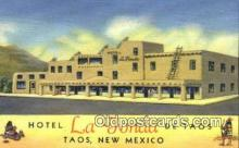 rds001008 - Taos, New Mexico USA Hotel La Fonda de Taos Road Side Postcard Post Cards
