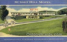 rds001018 - Brezewood, PA  Sunset Hill Motel Road Side Postcard Post Cards