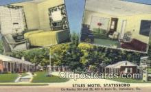 rds001022 - Statesboro, Georgia USA Stiles Motel Statesboro Road Side Postcard Post Cards