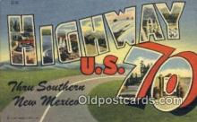 rds001039 - Highway U.S. 70 Road Side Postcard Post Cards